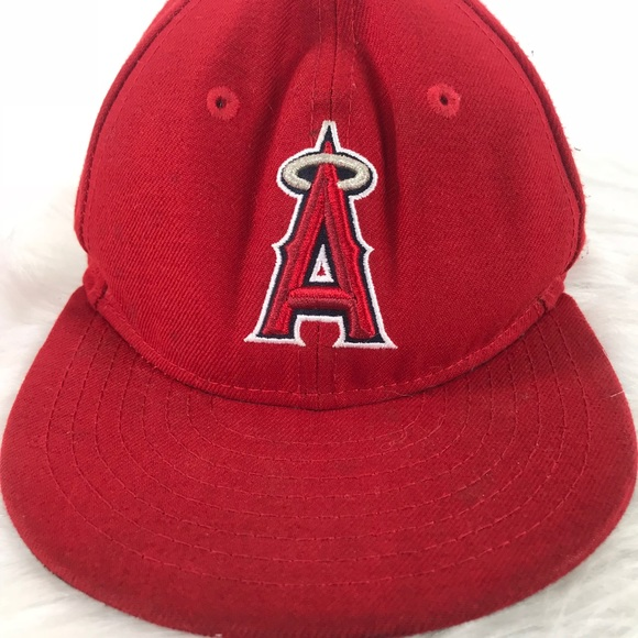 wholesale dealer new arrivals separation shoes New Era Accessories | Los Angeles Angels Mlb Red Fitted Cap | Poshmark